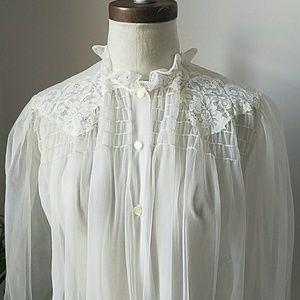 Vintage 1960s Sheer Full Length Robe